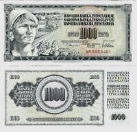 Jugoslawien Banknote UNC 1000 Dinara 1978 Narodna Banka Jugoslavije P-92b SELTEN
