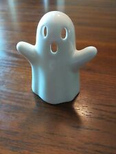 "White Halloween Ghost Tea Light Candleholder Porcelain 4.5"" Halloween decoration"