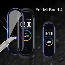 For Xiaomi Mi Band 4 3D Full Cover Tempered Glass Screen Protector Film Black