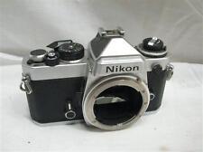 Vintage Nikon Model FE 35mm SLR Film Camera Silver/Chrome Body