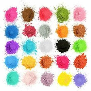 Epoxidharz Farbe Mica Pulver, 25 Farben Seifenfarbe Set Pigmente Pulver(5g)