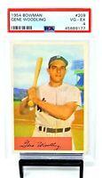 1954 Bowman #209 NY Yankees GENE WOODLING Vintage Baseball Card PSA 4 VG-EX