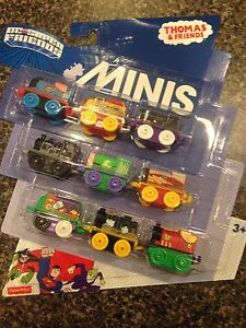 Thomas & Friends Minis DC Super Friends Super Heroes 9-Pack New Thomas Superman