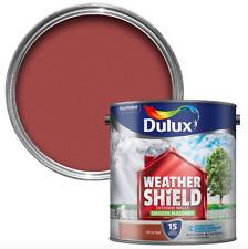 Dulux Weathershield Smooth Masonry Paint - Exterior Wall - 2.5L- Brick Red