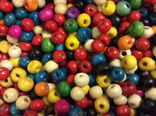 100 Abacus Multicoloured Wood Beads WB07