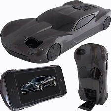 Estuche 3D Negro Carro de Carrera Americano Para Apple iPhone 5 5S SE Cover