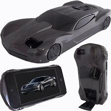 Estuche 3D Negro Carro de Carrera Americano Para Apple iPhone 5 5S SE Cover