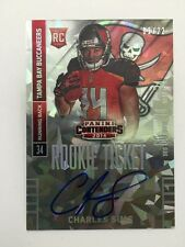 Charles Sims #01/22 CRACKED ICE Auto 2014 Panini Contenders Football 1/1 RC