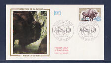 enveloppe 1er jour  faune  bison d' Europe    Mouzon    1974