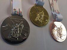 SET(3) 2018 PyeongChang Olympic Souvenir MEDALS GOLD SILVER BRONZE KOREA! USA!