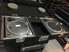 2 TECHNICS SL1200MK2 SL 1200 MK2 PAIR DJ TURNTABLES /with case //ARMENS