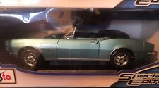 1/18 1967 Chevrolet Camaro Convertible RS / SS 396 American Muscle Car 1:18 BLUE