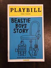 Beastie Boys Story Playbill