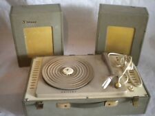 rare 1st Philips Stereo portable record player Valve Tube type AG9133 to restore