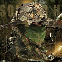 Chapeau de Chasse Camouflage avec Chapeau de PêChe Bionic 3D Real Tree Leaf K6R1