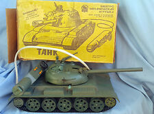 Vintage Huge Rare Battery Operated USSR Tank Rocket Launcher Original Box !