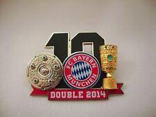 "Pin ""Bayern 10. Double 2014"" DFL FC Bayern München Meisterschale Pokal Meister"