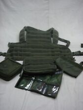 Condor Chest Rig MCR1, T & T Pouch, 3 Mag Insert, 511 Med Pouch and a Map Case.
