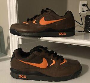 2009 Nike air ACG wildwood 377757-281 men's brown/orange hiking sneakers sz 10.5
