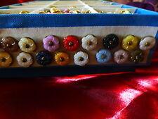 carini piccoli bottoni vintage per piccoli vestiti fiori ====lot de 15