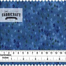 Blue Diamond Geometric - 1 metre 100% cotton fabric