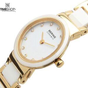 Bering Time Gold Tone Ceramic Womens Watch 10729-751