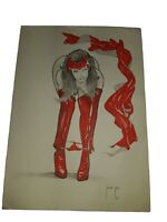 Sexy SCARLET WITCH ORIGINAL ART  11X8 Bruno Rios SKETCH PIN UP AVENGERS