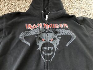 Official IRON MAIDEN Legacy of the Beast 2019 Tour Hoodie Sweatshirt Large New