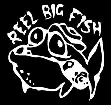 x2 Shaped Vinyl Stickers 10x10cm ska punk reel big fish car laptop notebook wall