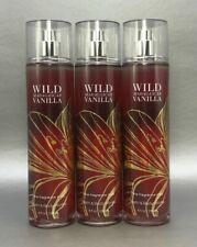3 Piece Bath and Body Works Wild Madagascar Vanilla Fine Fragrance Mist 8 oz