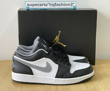 Air Jordan 1 Low Particle Grey Black White Shadow 3.0 Sneakers - Size UK 8