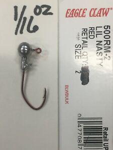 Crappie Jig Heads 1/16oz #2 gold,bronze,red,black sickle hook 100ct