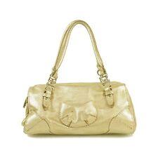 S0nia Rykiel Gold Leather Large Satchel Tote Shopper Handbag superb!