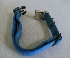 """Blue or Red X-Large Dog Padded Nylon Collar Clip Closure 1.5"""" W Adjustable 25"""" L"""