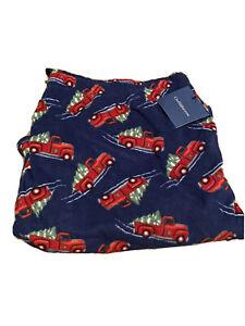 New Croft & Barrow Old Red Fire Truck Pajama Sweat Pants 3XLT