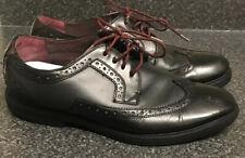 Ted Baker UK 10/44 Negro Cuero Oxford Zapatos Cuero Calado Traje De Trabajo Inteligente Ocasión