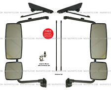 Door Mirror with Arm Black - LH & RH (Fit: International DuraStar 4300)