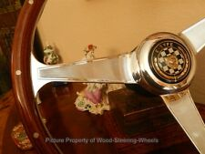 "Jaguar XKE E-Type  Wood Steering Wheel 61 - 75 Nardi 15"" NOS Engraved FLAWLESS"