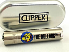 Clipper *The Bulldog Amsterdam* Metall Silber Feuerzeug Box (ovp) Edel Design