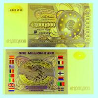 """★★★★ EUROPE / FRANCE : BILLET POLYMER  """" OR """" DE 1 000 000 EURO ★★★"""