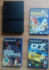 PS2 Konsole mit 3 Games. Ohne Zubehör