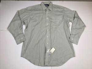 Ralph Lauren Long Sleeve Green White Striped Button Down The Big Shirt Sz 16 -35