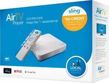 AirTV 8 GB 4K UltraHD reproductor de medios streaming con adaptador blanco/azul-Caja Abierta