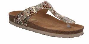 Rohde Alba Damen Sandale Sandalette Zehentrenner Hausschuhe Fußbett