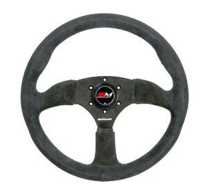 Motamec Semi Dish Steering Wheel 350mm - Grey - Race / Rally / Historic