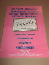 "THEATRE ROYAL BATH "" VANILLA "" HANDBILL / FLYER STARRING: JOANNA LUMLEY"