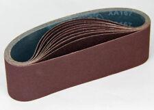 "Ten Sanding Belts  75x610mm (3x24"") 80 grit. Industrial cloth backed. ABRB324080"