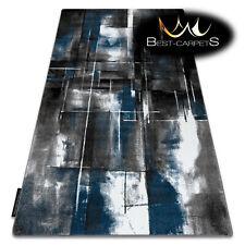 Moderne Incroyable Original 3D Tapis 'Intero' Abstraction Bleu Stylé
