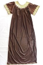 Ladies embroidered long flowing dress Brown Gold African Tunisian Arab NEW B