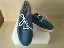 Vintage 1980/1990s CHIC blue Tennis Shoes Womens 8.5 Brand New
